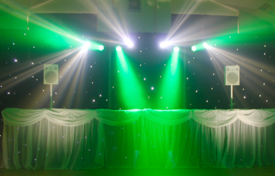 The Silver Disco Setups Offer Two Versions This Setup Employs Our Sniper Beam Lighting Rather Than Moving Spot Lights