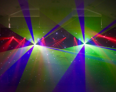 The ultimate mobile DJ setup with LASERS