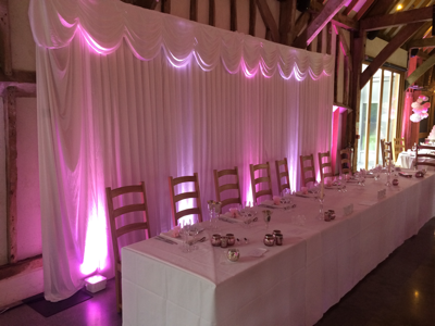 Top Table Backdrop at Southend Barns