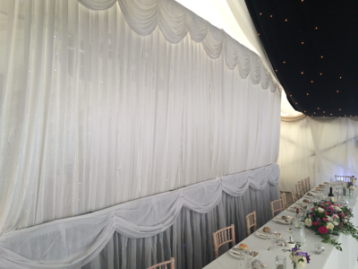 Marquee Top Table Backdrop