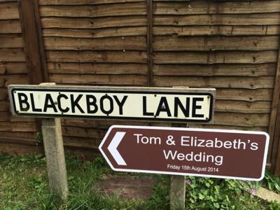 Custom Wedding Road Signs Fishbourne Centre