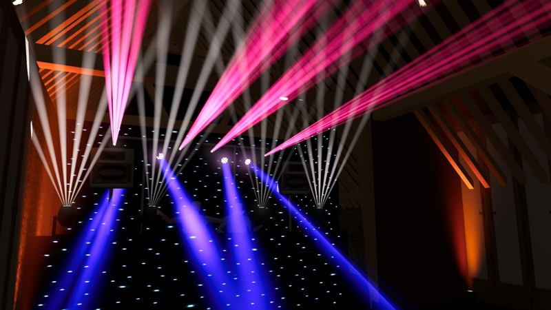 Grittenham Barn in Sussex 3D Visual from After Dark Productions DJ